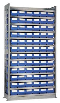 Almacenamiento En Estanterias Metalicas.Estanterias Metalicas De Almacenamiento Con Contenedores Plasticos