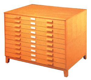 Archivadores horizontales de planos - Archivadores de madera ...