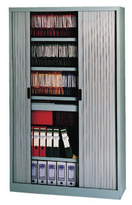 Armarios de oficina con persiana de apertura lateral for Armario oficina con llave
