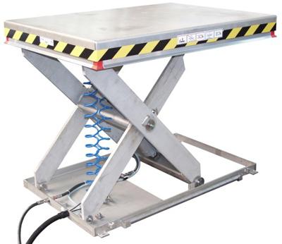 mesa elevadora neum tica galvanizada antiexplosi n
