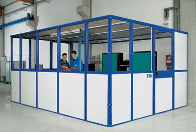 Paredes modulares de separaci n con bastidores revestibles - Paredes modulares ...